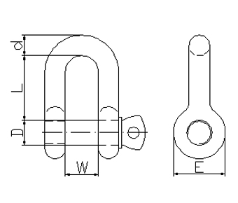 A.S. Type Grade S Dee Shackle-AS2741,2002