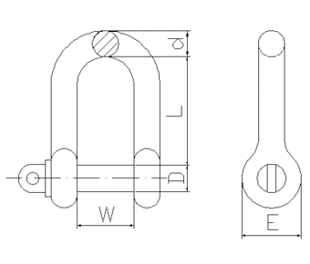 A.S. Type Grade M Dee Shackle-AS2741,2002